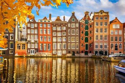 Плакат Old buildings in Amsterdam