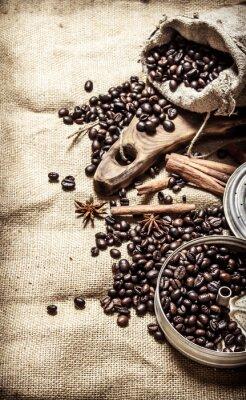 Плакат Старый кофе стиль.
