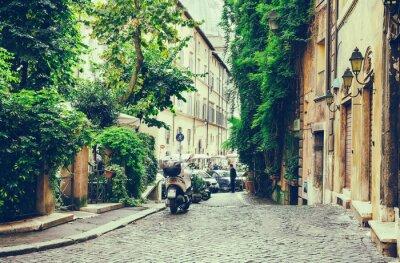 Плакат Старый двор в Риме, Италия