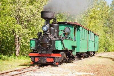 Плакат Старый паровоз поезд