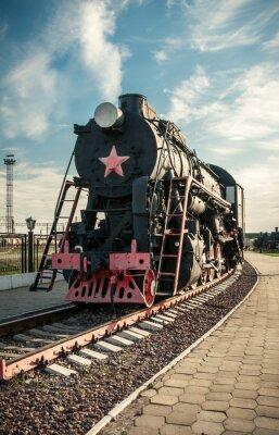 Плакат старые паровозы 20-го века