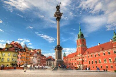 Плакат Старый город в Варшаве, Польша