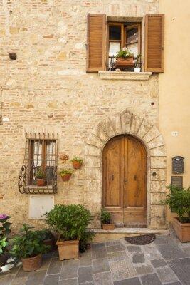 Плакат Старый город Монтепульчано в Тоскане
