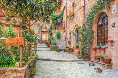 Плакат Старый город Тоскана Италия