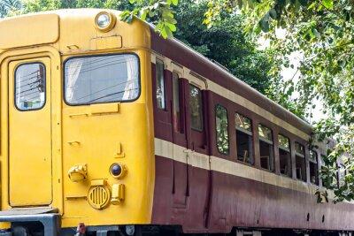 Плакат Старый поезд на станции