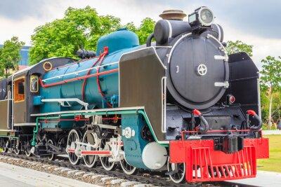 Плакат Старый поезд винтажном стиле.