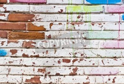 Плакат Старая стена заполнения граффити
