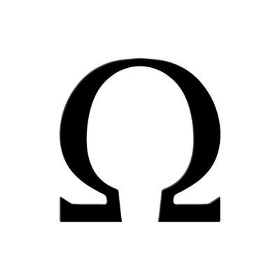 Плакат Омега символ