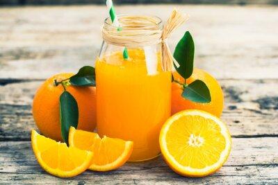 Плакат апельсиновый сок
