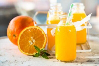 Плакат бутылка сока Оранжевый