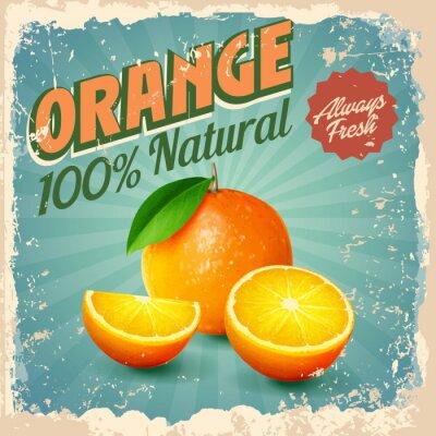 Плакат оранжевый год сбора винограда