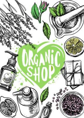 Плакат organic store cosmetics