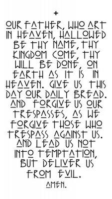 Плакат Our Father prayer vector illustration