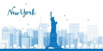 Плакат Схема города Нью-Йорка с небоскребов