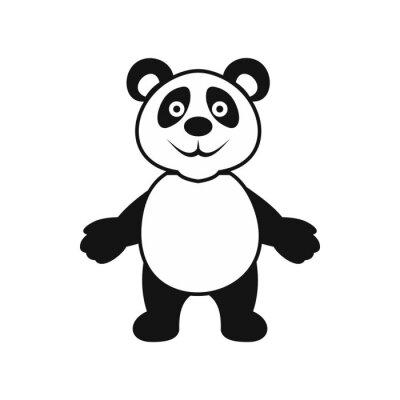 Плакат Panda значок медведь, простой стиль