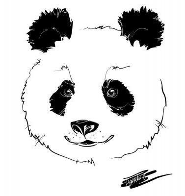 Плакат панда головы