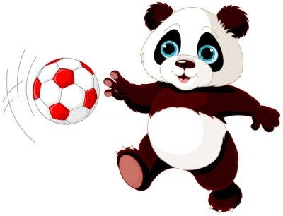 Плакат Panda ударяет мяч