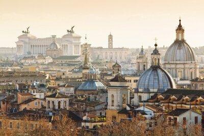 Плакат Панорама старого города в Риме, Италия
