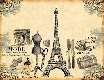 Плакат Париж фона