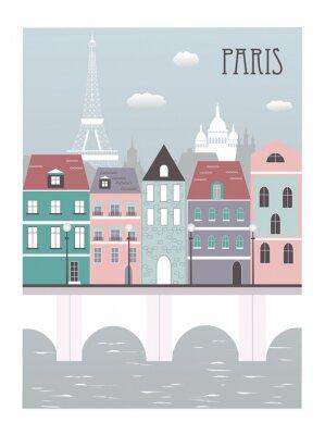 Плакат Город Париж.