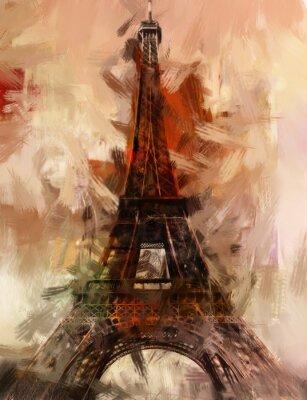 Плакат Париж Gemälde Eiffelturm Eifelturm Bild Kunst Ölgemälde