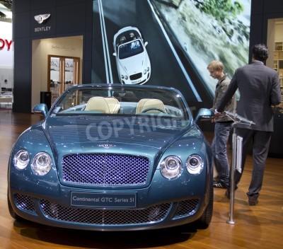 Плакат Paris Motor Show 2010 in Paris, showing Bentley Continental GTC Series 5I