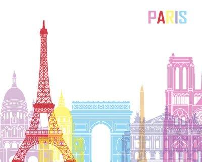 Плакат Париж горизонта поп