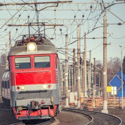 Плакат Пассажирский поезд.