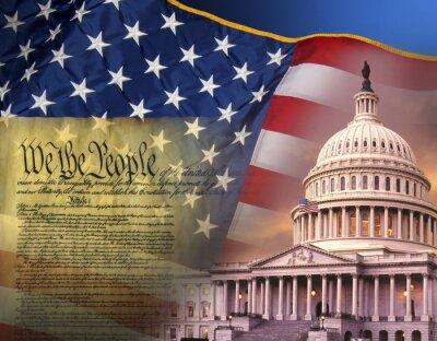 Плакат Патриотических символов - Соединенные Штаты Америки
