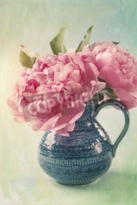 Плакат Пион цветы в вазе