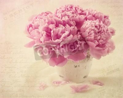 Плакат Peony flowers in a vase