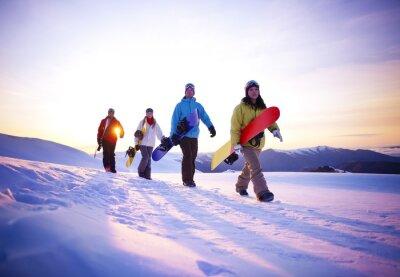 Плакат Люди на пути к сноуборде