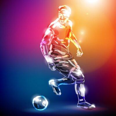 Плакат Piłka nożna Wektor