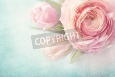 Плакат Розовые цветы в вазе
