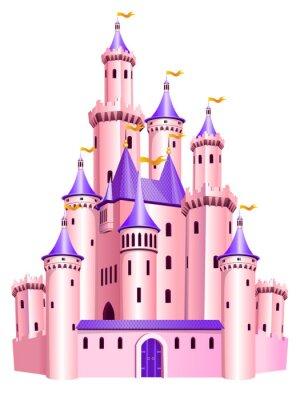 Плакат Розовый принцесса замок.