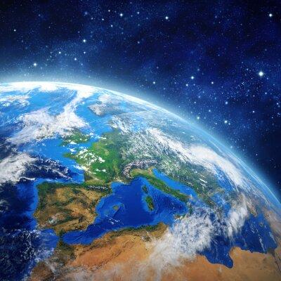 Плакат Планета Земля в космическом пространстве