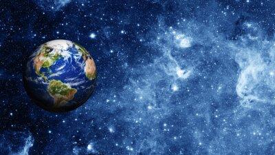 Плакат планета Земля в космосе