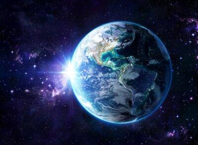 Плакат планета в космосе - США Посмотреть - США