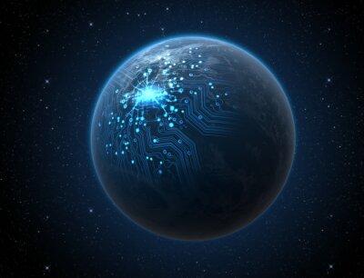 Плакат Планета с подсветкой сети