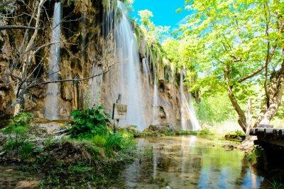 Плакат Национальный парк Плитвицкие озера в Хорватии