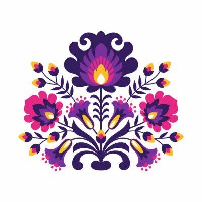 Плакат Польские народные Цветы