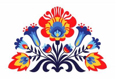 Плакат Польские народные вдохновили цветы