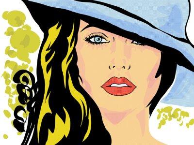 Плакат поп-арт роковая вводная визаж, тет