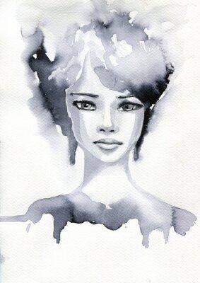 Плакат Portret akwarelowy Kobiety