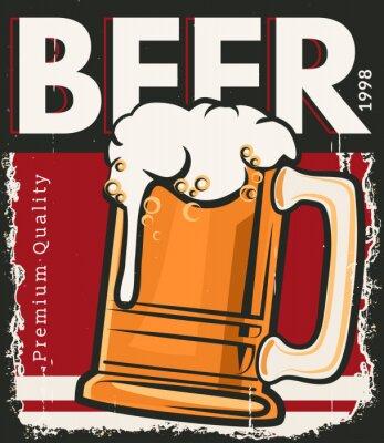 Плакат Плакат ретро пиво