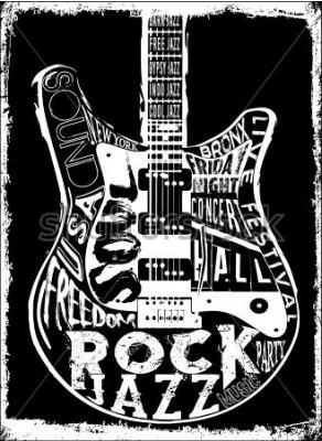 Плакат Плакат с твердой рок-музыкой