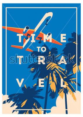 Плакат Плакат для путешествий и летнего отдыха.