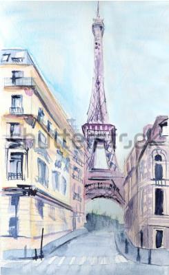 Плакат Парижская архитектура. Эйфелева башня