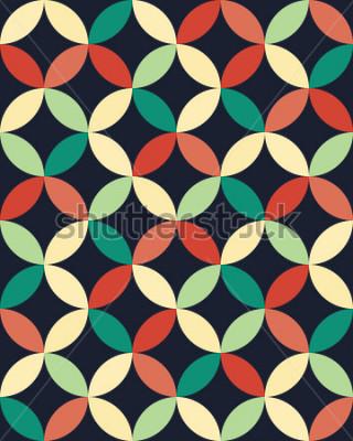 Плакат Абстрактная геометрическая картина кругов подушки моды битника