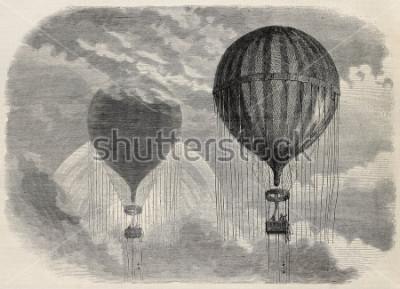 Плакат Аэростата в Париже, 15 апреля 1868 года. Создано Бланшаром и Коссоном-Смитоном, опубликовано в L'Illustration, журнал Universel,